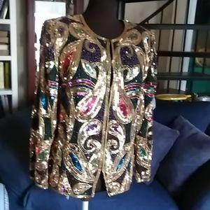 Laurence Kazar NY Sequined Evening Jacket